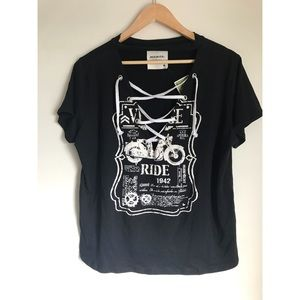 Edgy sexy tie up t-shirt